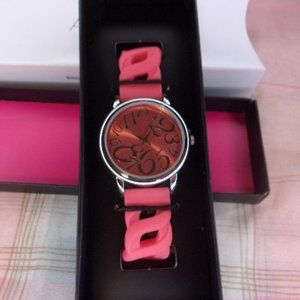 Avon Bright Pastel Linked Silicone Watch Pink New